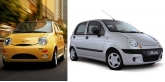 ������ �/�: ����� � ������ Daewoo Matiz � Chery QQ