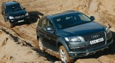 Качки Mercedes-Benz GL vs Audi Q7