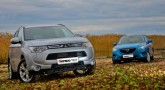 Mazda CX-5 vs Mitsubishi Outlander. Лед и пламень